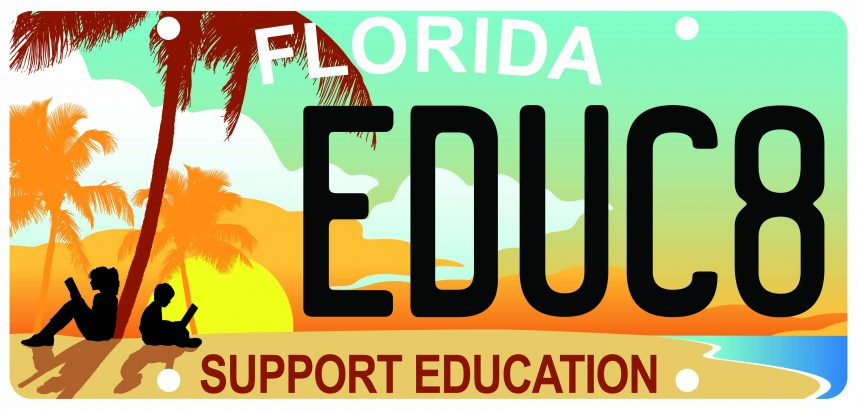 Florida Support Education License Plate
