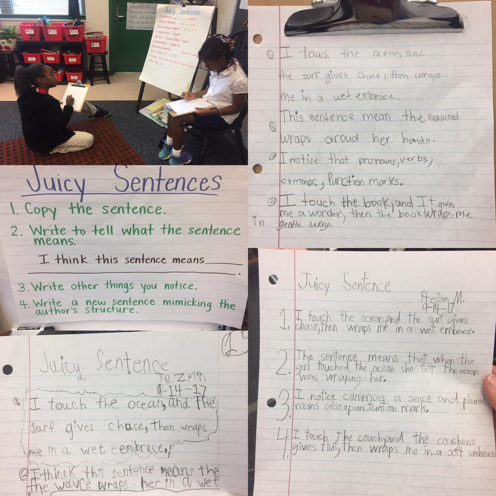 Students practice a literacy strategy.