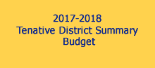 Tentative District Summary Budget