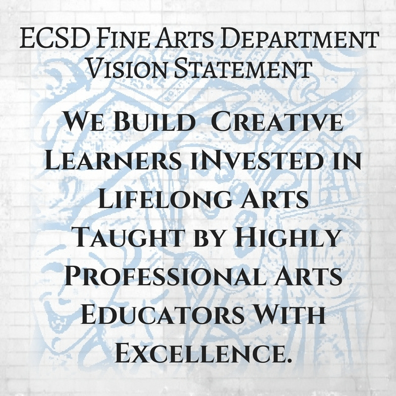 Escambia County School District Fine Arts Department Vision: