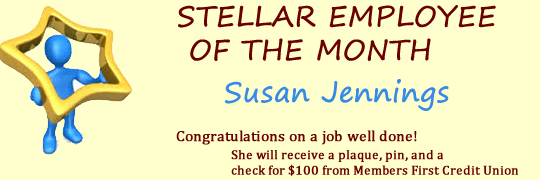 Stellar Employee of the Month - Congratulations